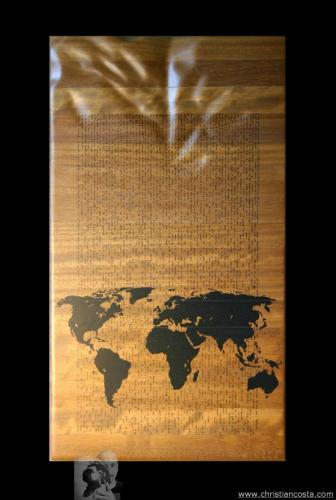 WW - MONDO AMMACCATO (Tavola - Piccolo Principe) - 2012 - legno e smalto - 88 x 48 cm