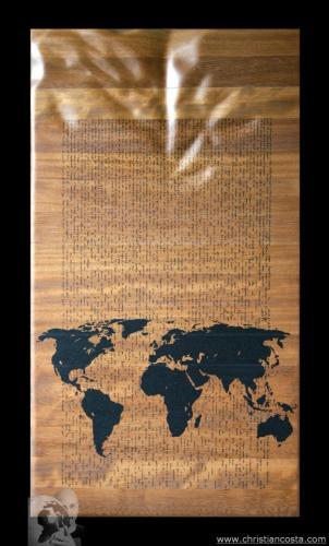 WW - MONDO AMMACCATO (Tavola - Piccolo Principe) F2 - 2012 - legno e smalto - 88 x 48 cm