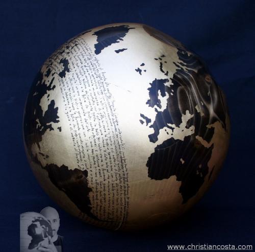 WW - MONDO AMMACCATO (sfera oro A. E.) - F 2 -2012 - diam. 30 cm