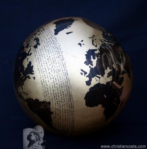 WW - MONDO AMMACCATO (sfera oro A. E.) - F 3 -2012 - diam. 30 cm